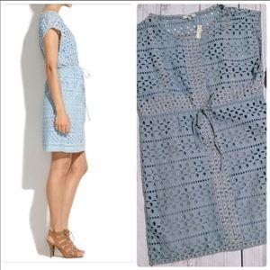Madewell Sky Blue Eyelet Dress. Size 0